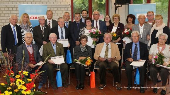 Jubilarehrungen bei Rodas CDU